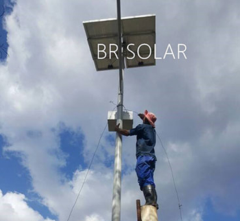 Zimbabwe 210set 8M80W LED Solar Street Lights in 26th June 2018
