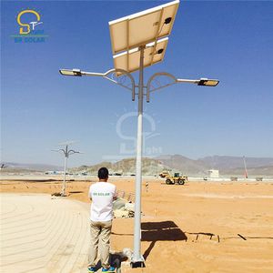 9M40W Double Arms Solar Street Lamp in Uganda