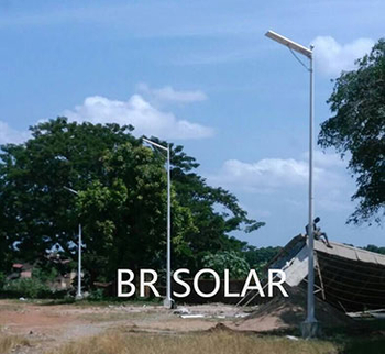 South Africa sample order of 6M40W All In One Solar Street Light in May 2018